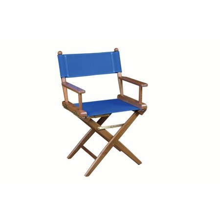 Whitecap 60041 Teak Director's Chair - Blue Seat Cover - Director Chair