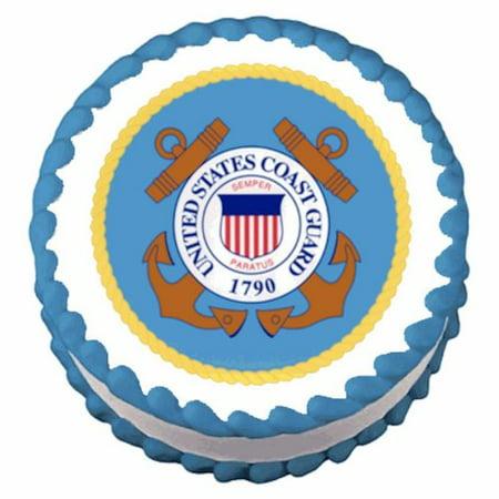 Guard Emblem - Coast Guard Emblem ~ Edible Image Cake / Cupcake Topper, Image is Approximately 7.5