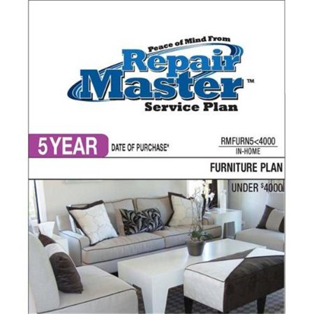 Repair Master RMFURN5 4000 5-Yr Date of Purchase Furniture Plan - Under $4000