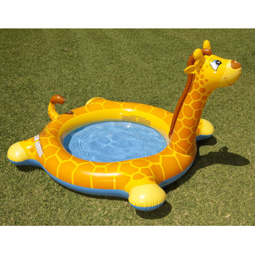 Intex Recreation 57434EP Inflatable Giraffe Spray Swimming Pool