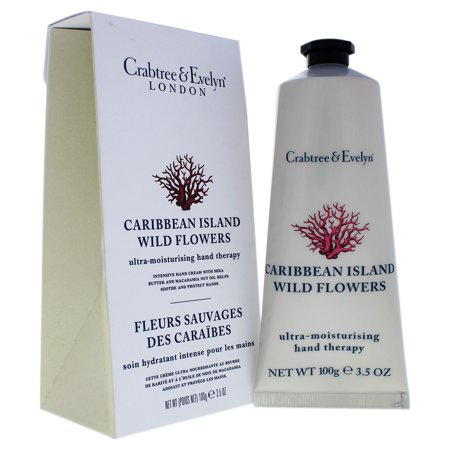 Crabtree and Evelyn Caribbean Island Wild Flowers Ultra-Moisturising Hand Therapy, 3.5
