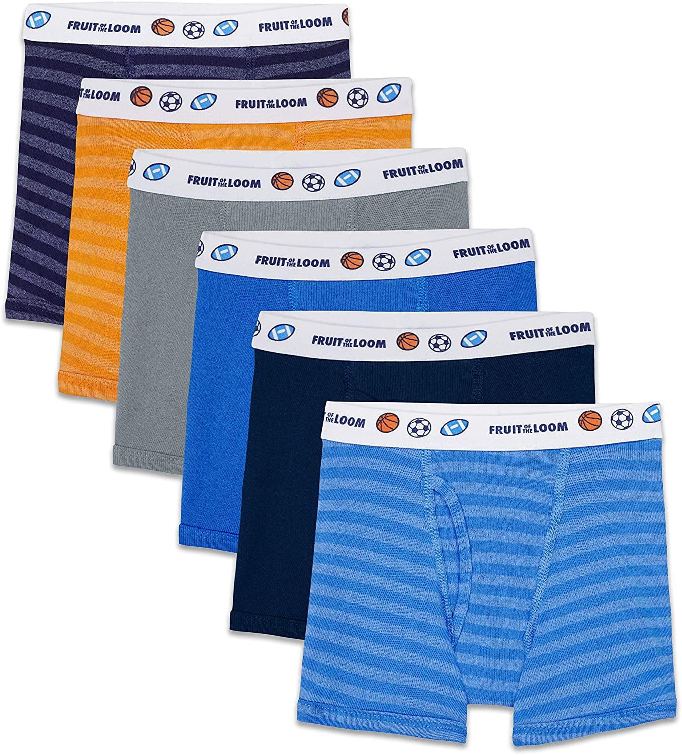 Assorted 4T//5T Fruit of the Loom Toddler Boys 5 Pack Stretch Boxer Brief