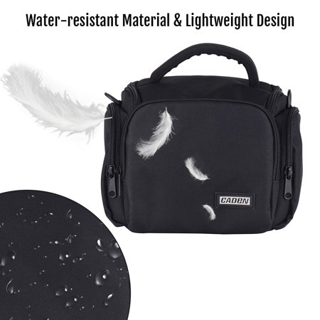 CADEN Padded Camera Bag Zippered Design Shockproof Black for Nikon Canon Sony DSLR Cameras Lenses Small Size - image 3 de 7