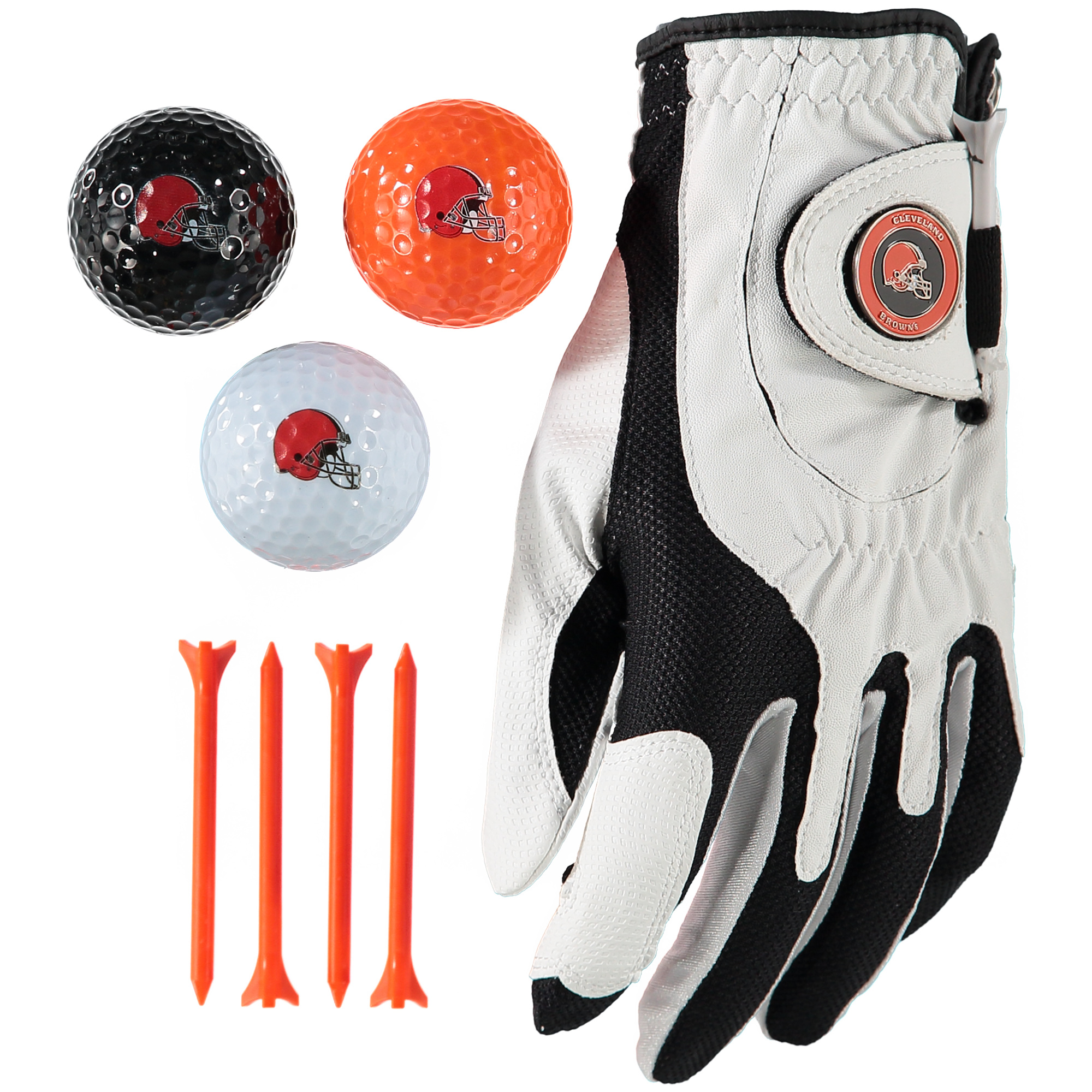 Cleveland Browns Golf Balls, Tees & Glove Set - No Size