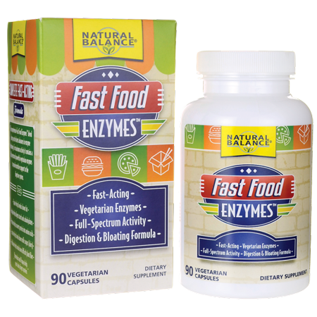 Natural Balance Fast Food Enzymes Capsules, 90 Ct