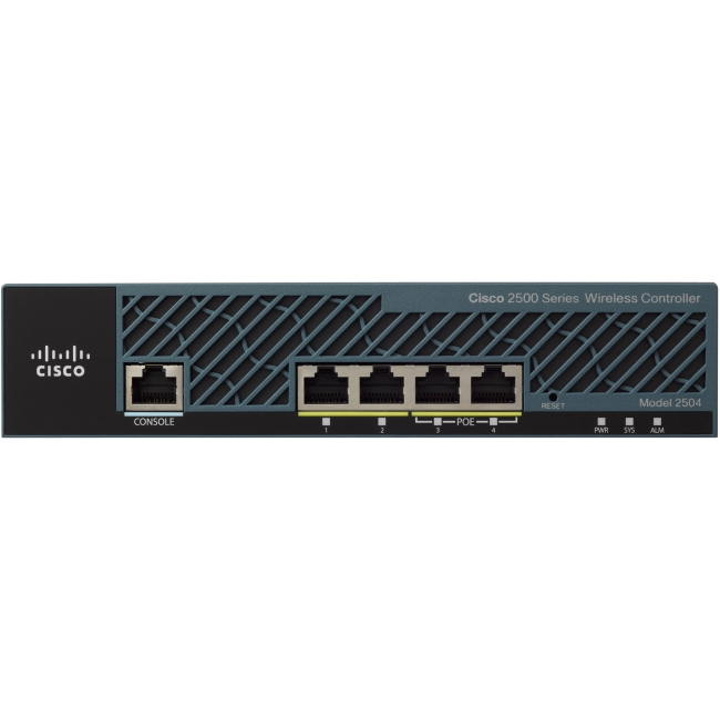 Cisco Aironet 2504 Wireless LAN Controller 4 x Network (RJ-45) -Rack-mountable by Cisco
