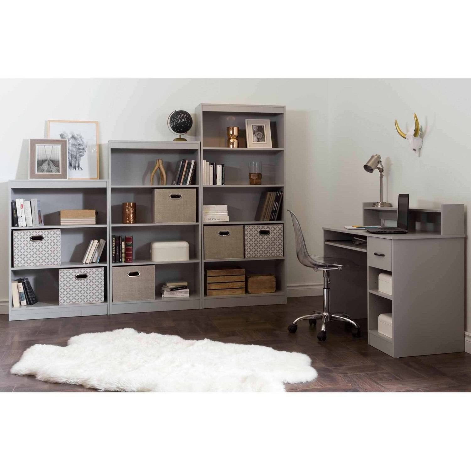 South Shore Crea Craft Table And 4 Shelf Bookcase, Multiple Finishes    Walmart.com