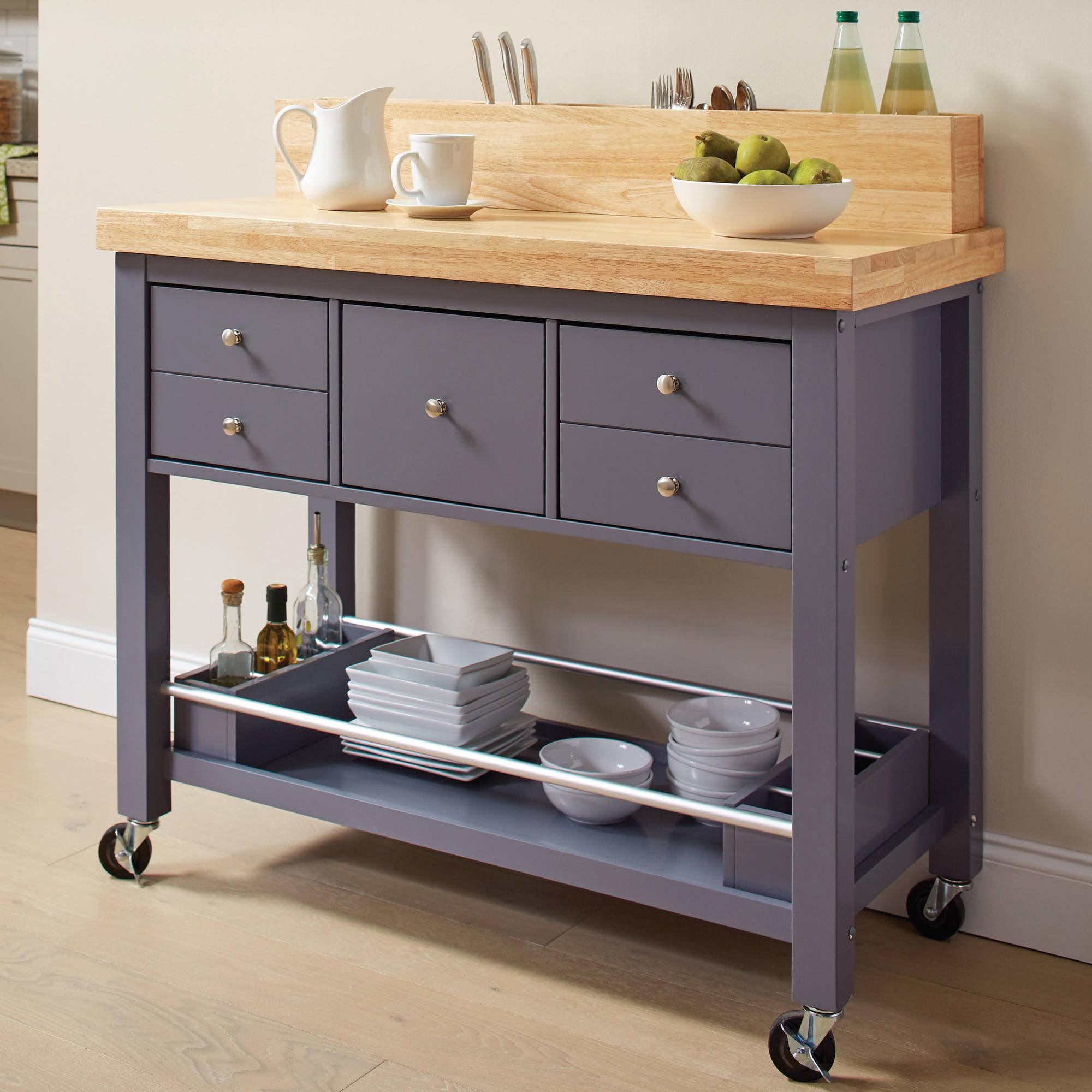 Coaster Furniture Kitchen Cart in Dark Gray