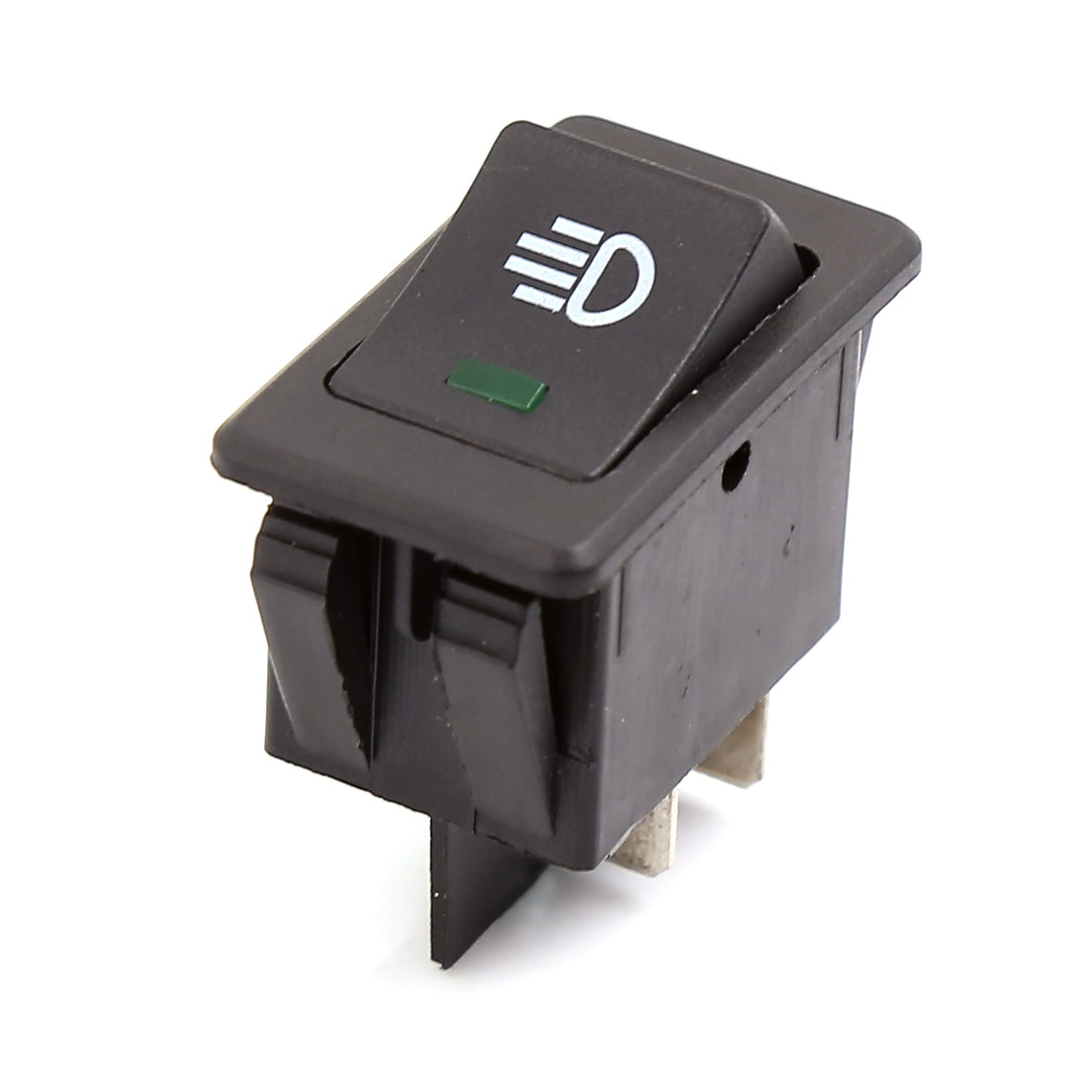 Vehicle Car ON//OFF 4 Pins Green Indicator Fog Light Switches DC 12V 35A