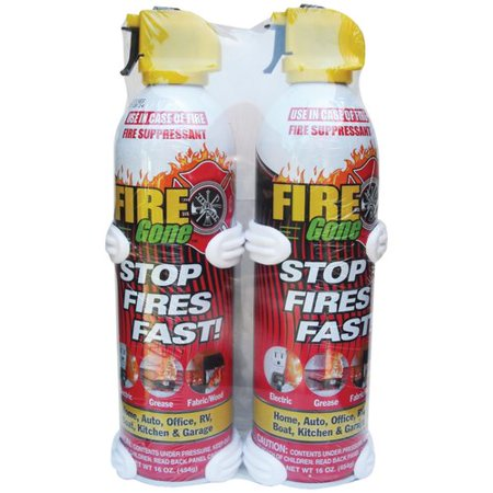 Fire Gone Suppressants With Bracket Fire Extinguisher (Set of 2)
