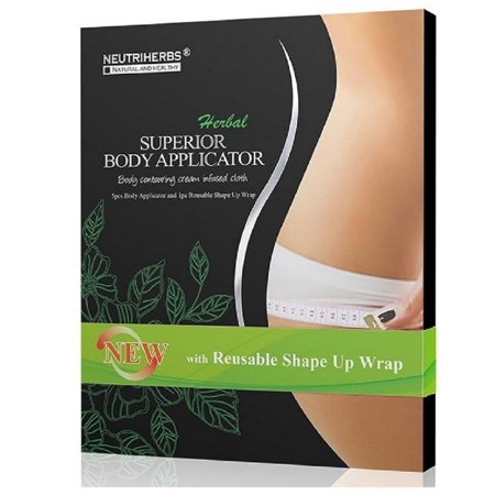 Neutriherbs 45 Min Ultimate Body Wraps Applicator (5) Plus Bonus Slimming Shape Up Wrap Strap