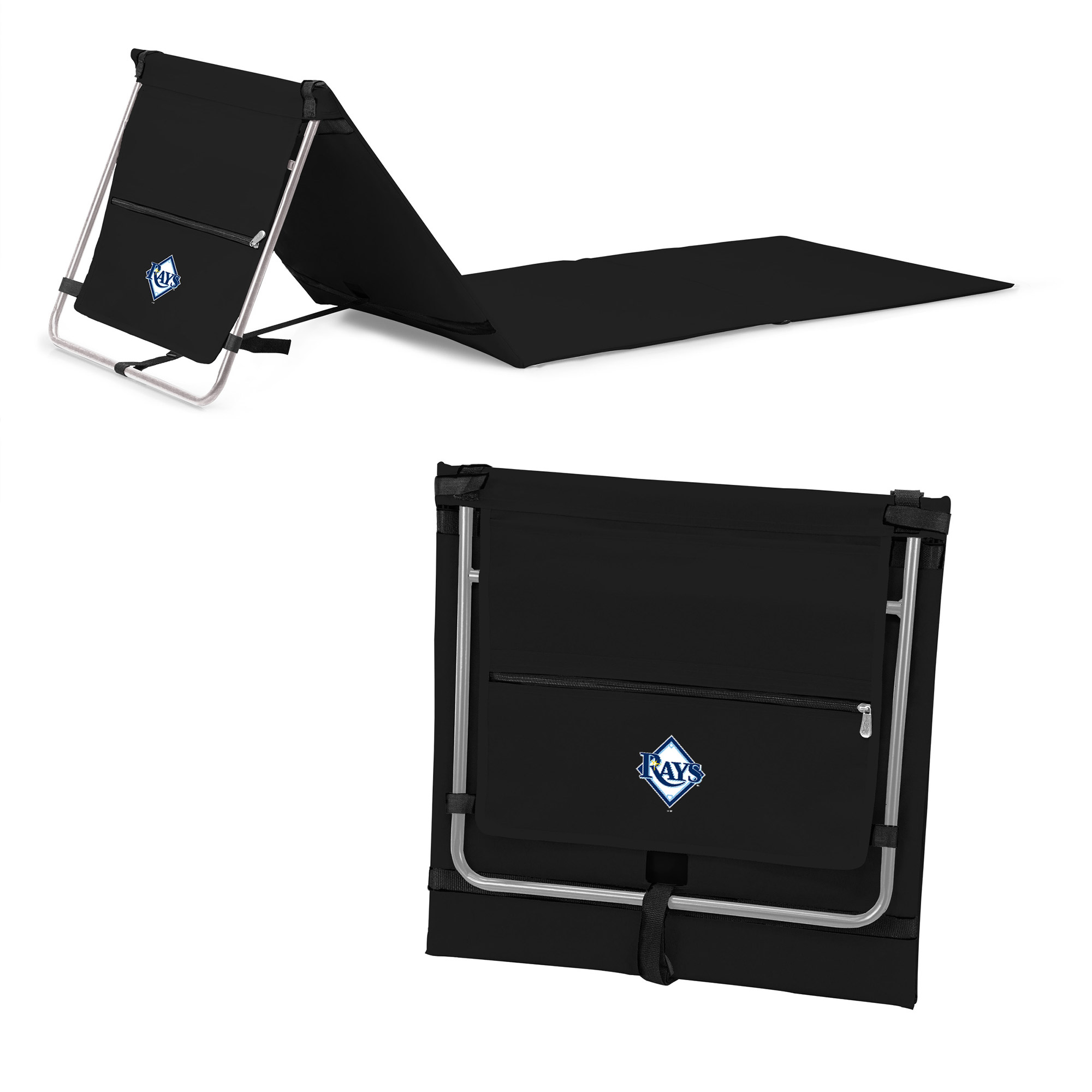 Tampa Bay Rays Portable Lounger Beach Mat - Black - No Size