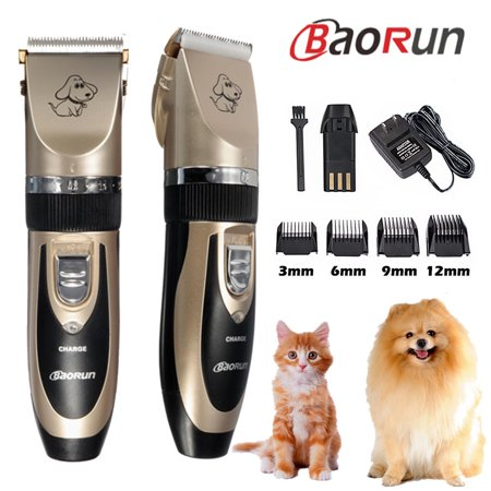 - BAORUN Pro Quiet Mute Rechargeable Cordless Electric Pet Cat Dog Hair Cutting Clipper Trimmer Shaver Grooming Kit Set