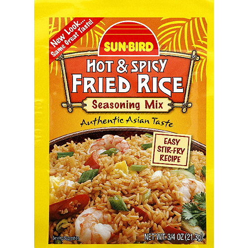 Sun-Bird Hot & Spicy Fried Rice Seasoning Mix, 0.75 oz, (Pack of 24)