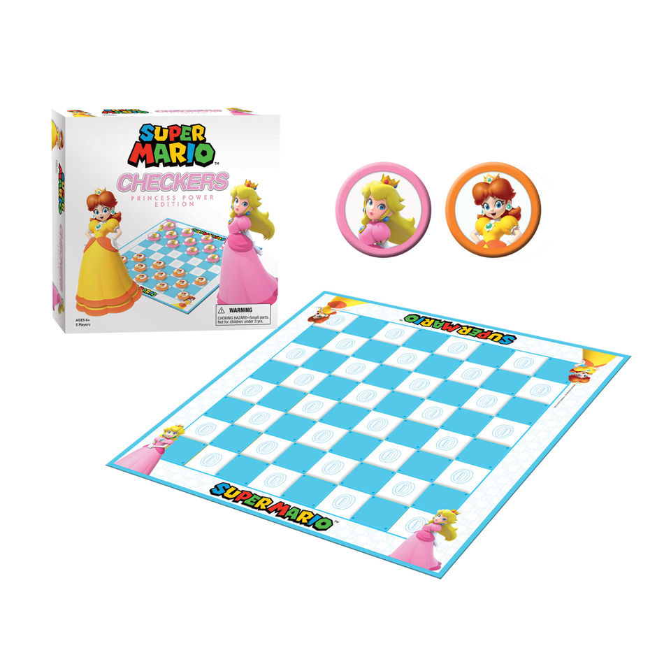 Usaopoly Checkers Super Mario Princess Power Board Game