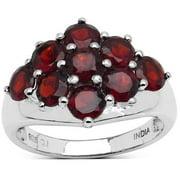 Malaika  Sterling Silver 3 1/10ct Red Garnet Ring
