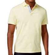 Tommy Hilfiger NEW Yellow Mens Size Large L Solid Custom Fit Polo Shirt