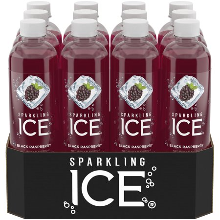 Sparkling Ice Naturally Flavored Sparkling Water, Black Raspberry, 17 Fl Oz, 12 Count - Halloween Drinks Dry Ice Alcoholic