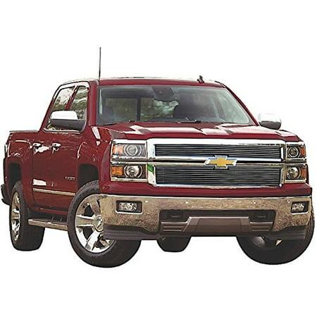 Carriage Works 47273 CWG47273 14-15 SILVERADO 1500 LT/LTZ BLACK BOLT-OVER 2PC BILLET GRILLE