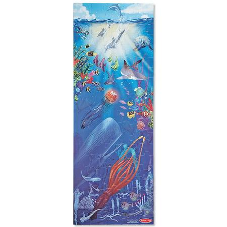- Melissa & Doug Under The Sea Jumbo Jigsaw Floor Puzzle (100 pcs, over 4 feet tall)