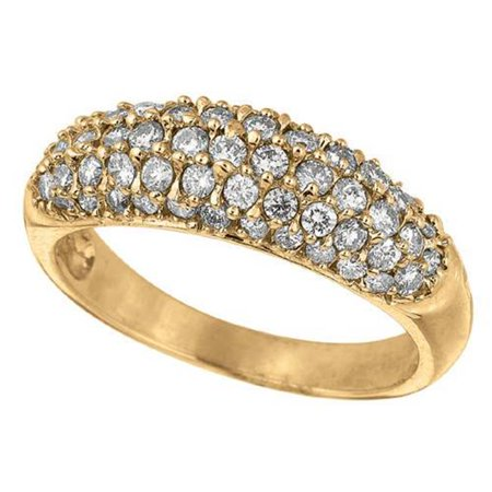 Harry Chad Enterprises HC12162 1.03 CT Round Brilliant Diamond Wedding Anniversary Eternity Ring Band - 14K Yellow Gold - image 1 of 1