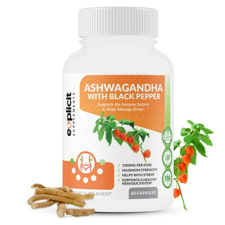 Pure Ashwagandha with Black Pepper – 1 Month