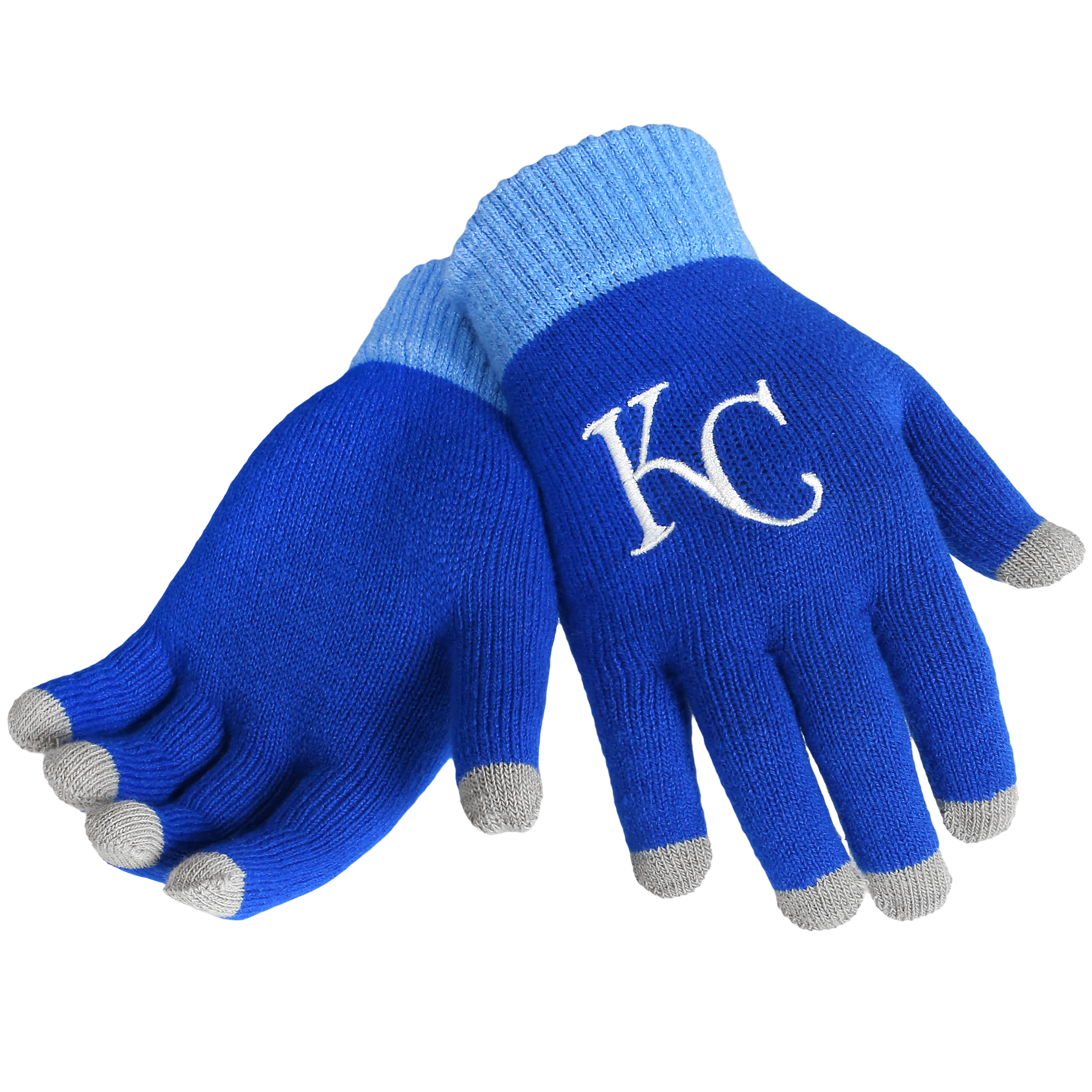 Kansas City Royals Official MLB Glove Solid Outdoor Winter Stretch Knit by Forever Collectibles 262107 by Forever Collectibles