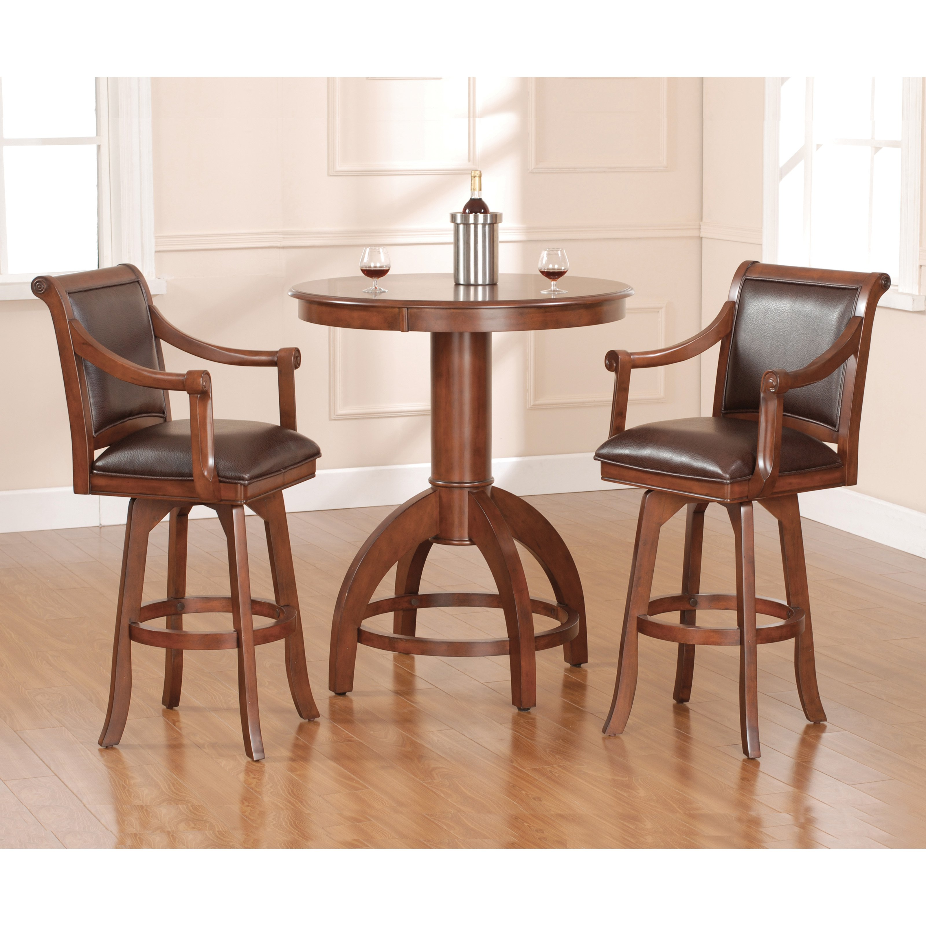 Hillsdale Palm Springs Bar Height Bistro Set by Hillsdale