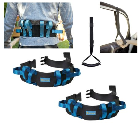 2 Transfer Gait Belts with Handles Medical Gait Belt Nursing Safety Assist Device with Secure Buckle 2 in 1 Standing Support Aid Kit for Patient, Elderly, Physical (Assist Attachment Device)