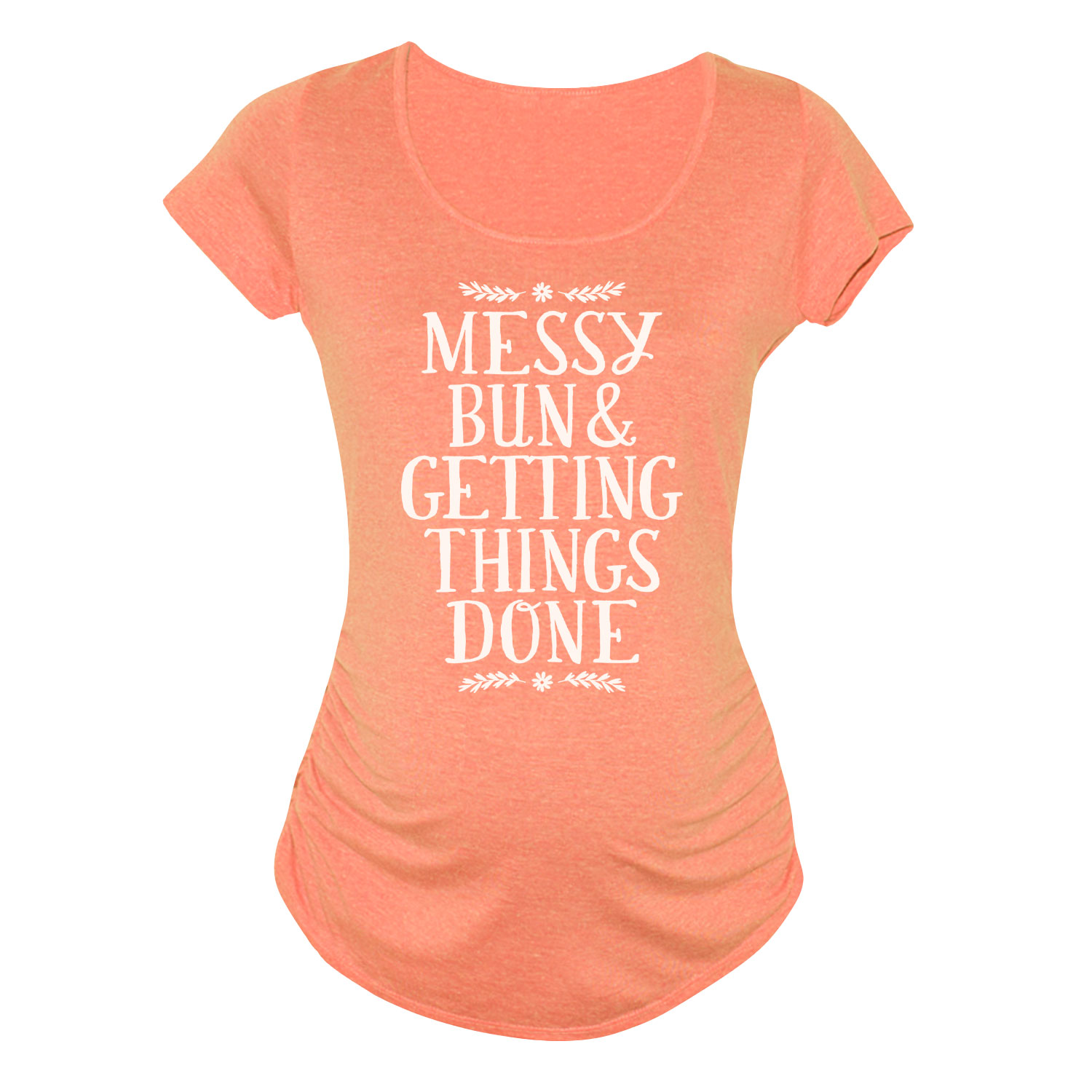 Messy Bun And Getting Things Done - MATERNITY SCOOP NECK TEE