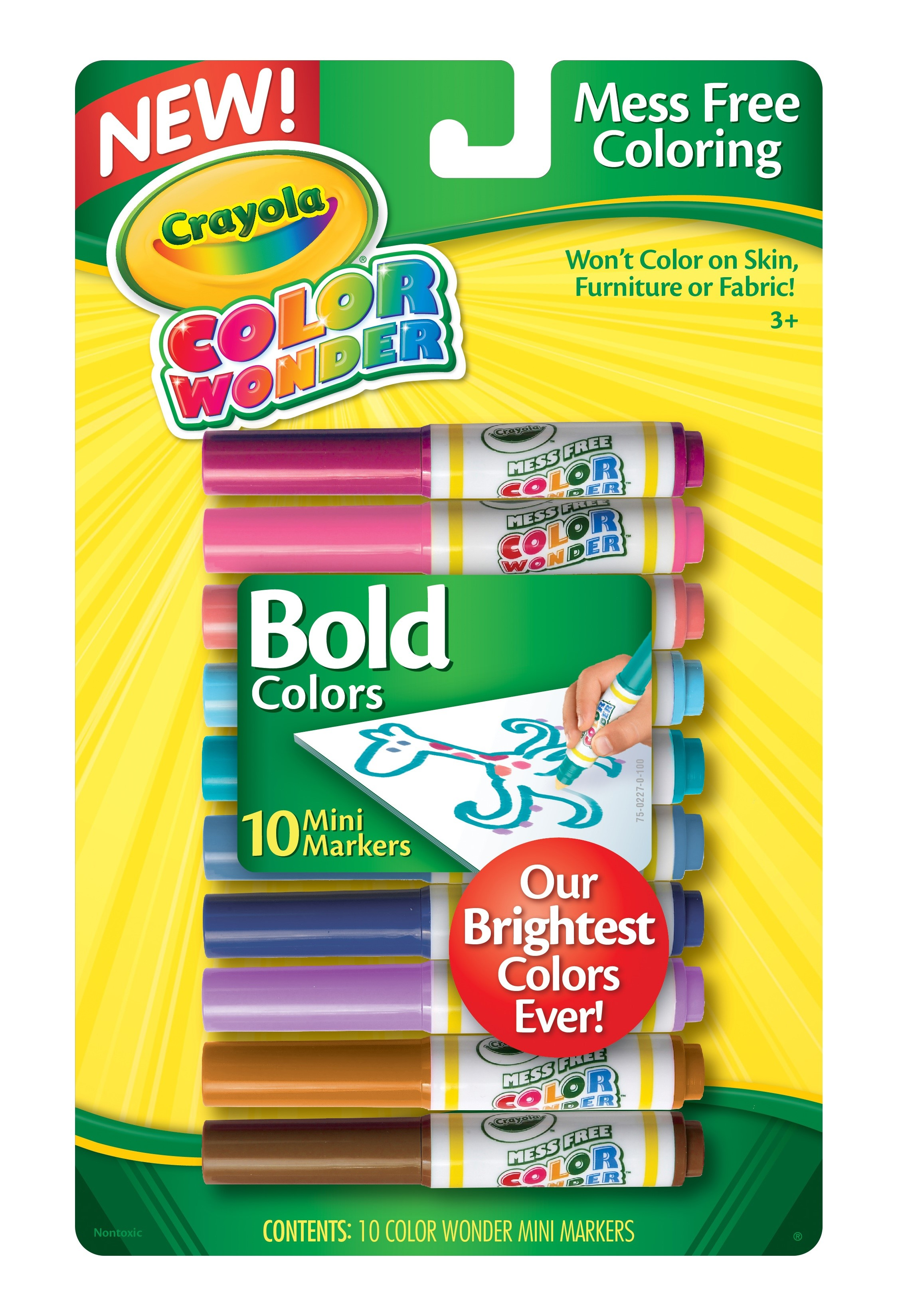 Crayola 10 ct. Color Wonder Mini Markers, Vivid Colors by Crayola