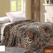 Sweet Home Collection African Safari Animal Skin Super Soft plush Throw Blanket