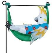 """Cockatoo Takes A Nap Summer Garden Charm Tropical Bird Garden Accent 23"""" x 18"""""""
