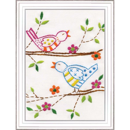 Design Works™ Sweet Songbirds Stamped Embroidery Kit