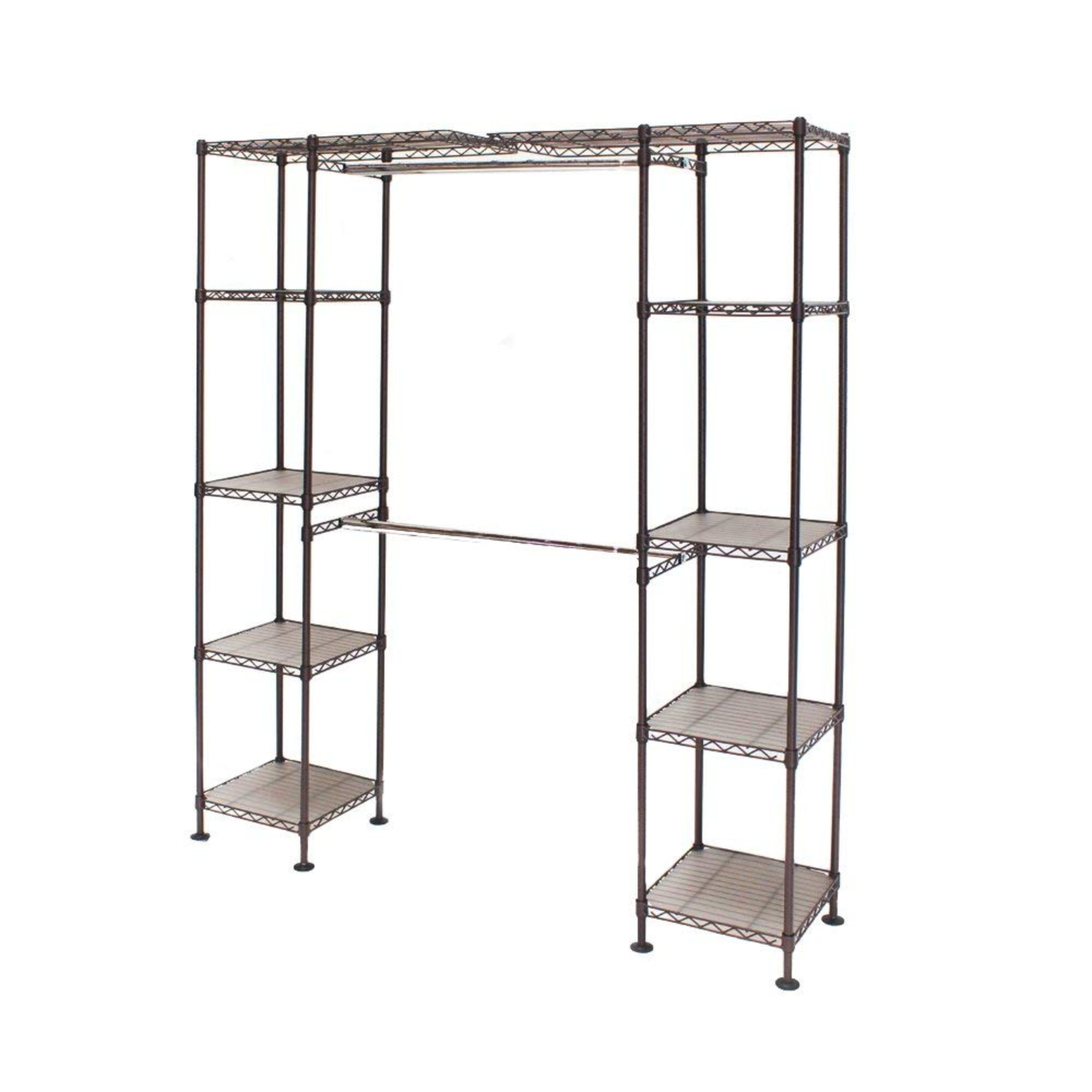 "Expandable Closet Organizer System, Satin Bronze 58""-83""W by Seville Classics"