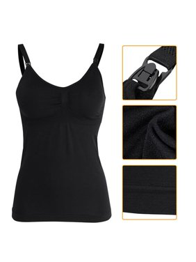 b098c0ec320e0 Product Image Slim Breastfeeding Tank Top with Built-in Nursing Bra  Maternity Vest Undershirt
