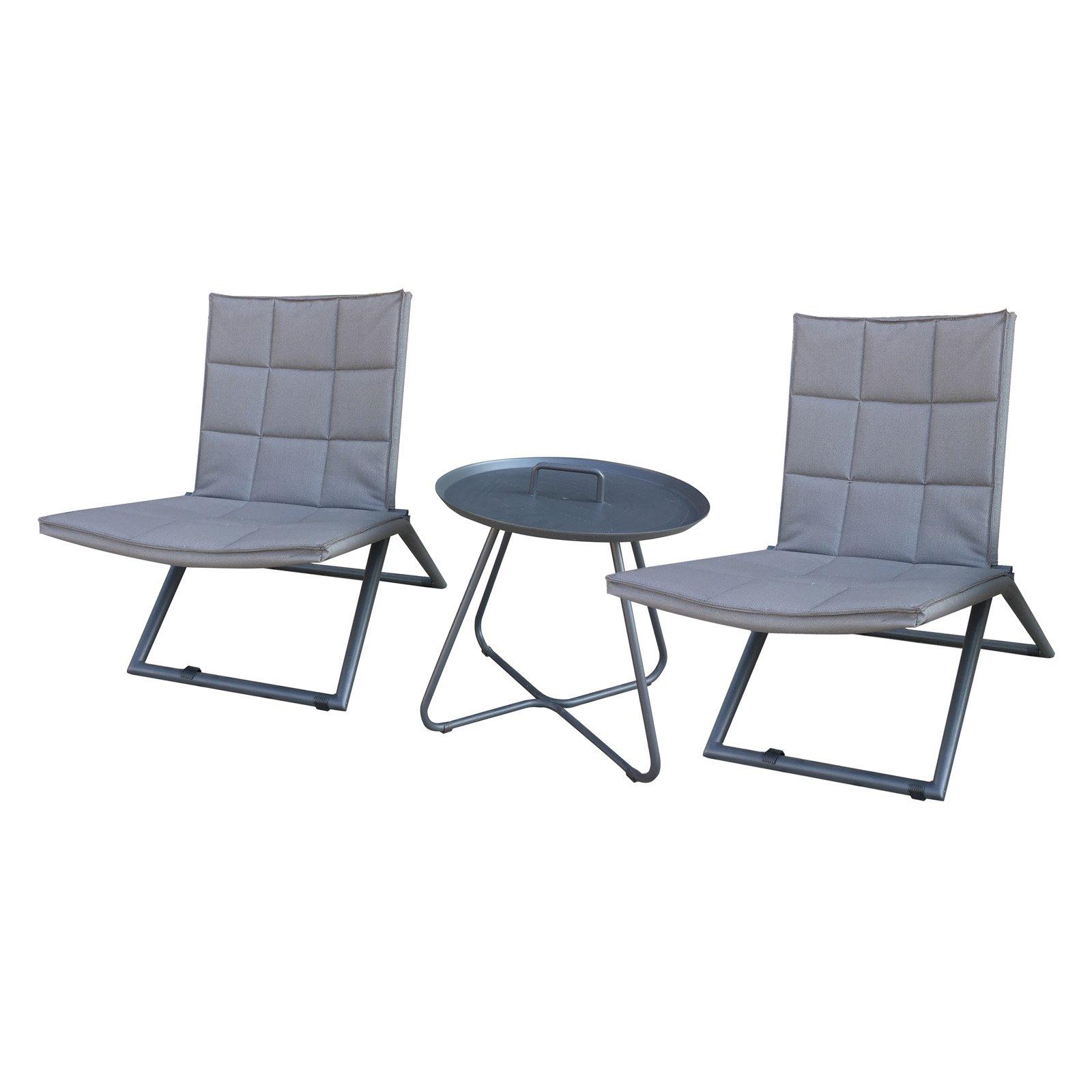 Incadozo Ravello Aluminum 3 Piece Patio Conversation Set