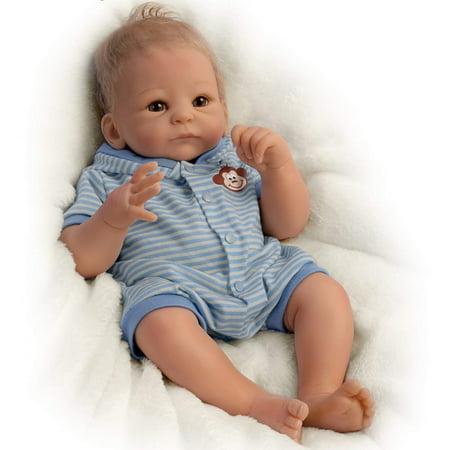 So Truly Real Benjamin Baby Doll By Tasha Edenholm With Blue Ensemble by The Ashton-Drake