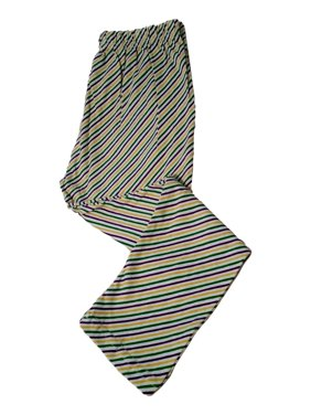 Mardi Gras Leggings 18 - 24 Mth Striped Purple Green Yellow White Soft Knit