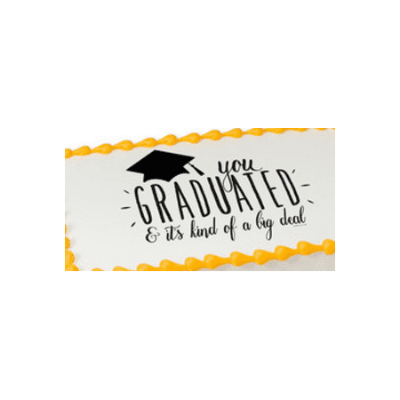 Big Deal Grad Edible Extra Large 8 x 10 Cake Decoration Topper Image (Graduation Cakes Ideas)