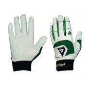 Akadema White/Green Professional Batting Gloves Large
