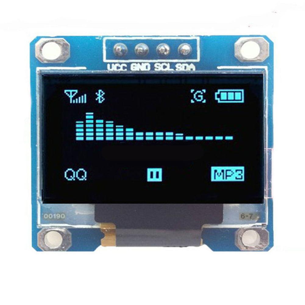 Heepo 0.96inch I2C IIC Serial 128x64 Blue OLED LCD LED Display Mini Module for Arduino