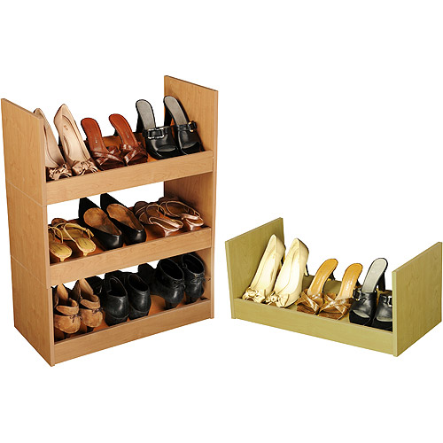 Stackable Shoe Cabinet, Oak