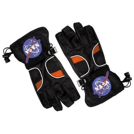 Space Suit Costumes (Jr. ASTRONAUT GLOVES NASA black space suit boys kids costume accessory)