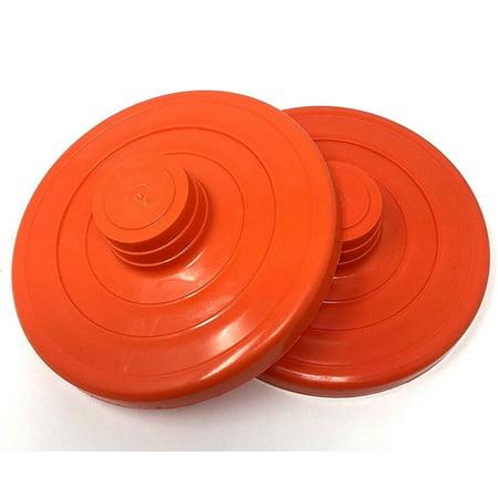 Orange Cover Lid Plastic Fit Vitrolero Pack of 2 For Plastic and Glass Jar 5