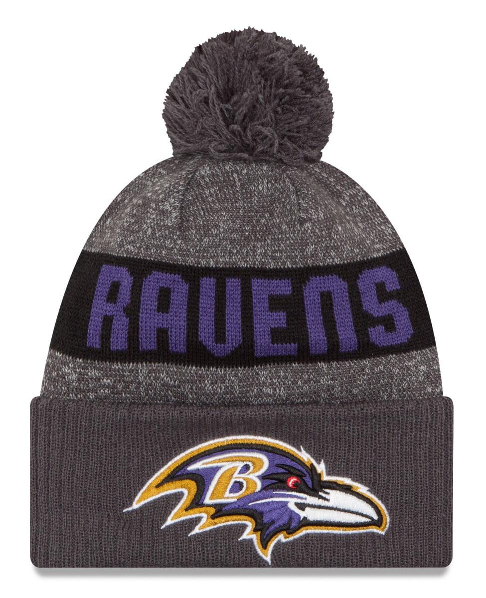 buy popular 2848d 57833 ... order baltimore ravens new era 2016 nfl sideline sport knit hat  graphite ba78c d528f