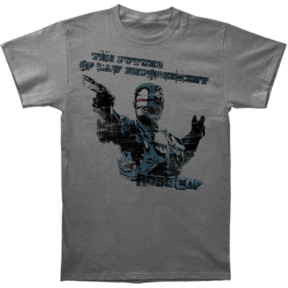 Robocop Men's  Future Of Law Slim Fit T-shirt Grey