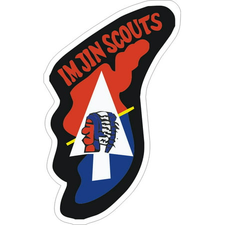 8 Inch IMJIN Scout Award Decal Sticker