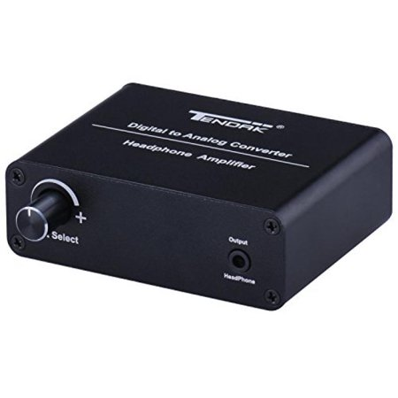Tendak Digital to Analog Converter Portable DAC Headphone Amplifier AMP Support Coaxial/ Toslink / SPDIF / Optical to 3.5mm & Analog L/R (Best Portable Headphone Amp Dac Combo)