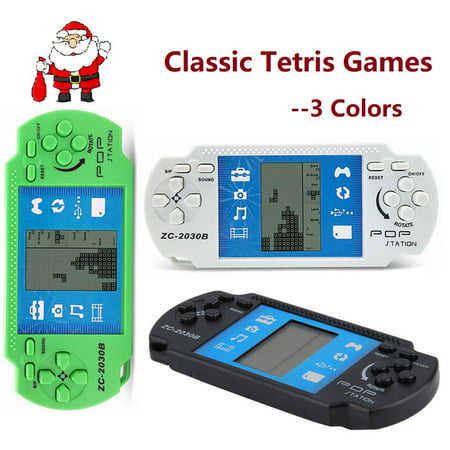 Smartasin Classic Handheld Tetris Game Console Portable Video Tetris Toys, Great Christmas Gifts for Kids Adults /Xmas on Sale